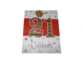 21st Celebrate, Gift Bag & Tag.